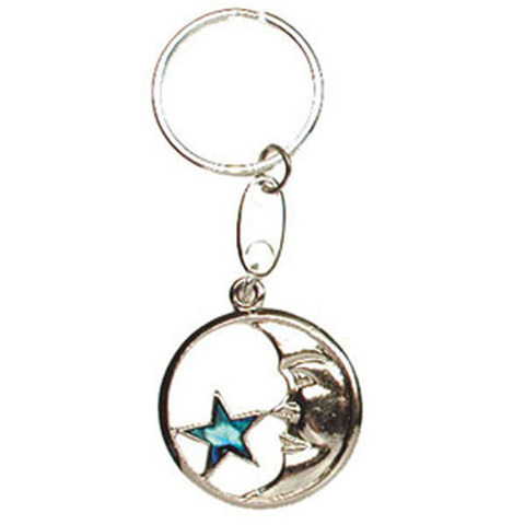 Llavero concha abalon Luna-Estrella