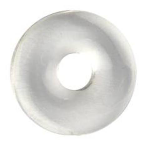 Colgante Donut Cristal de Roca (Cuarzo Blanco) 40mm
