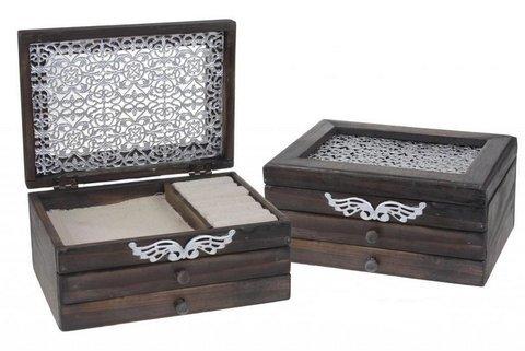 Ketapuestes - Joyero madera con filigrana metal - K� t�apuestes
