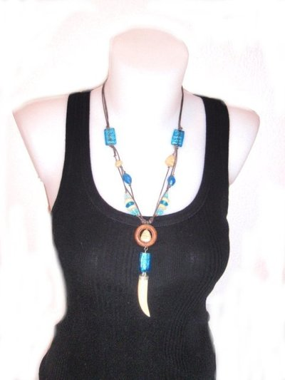 Collar Unisex Fussion colmillo CJC 106