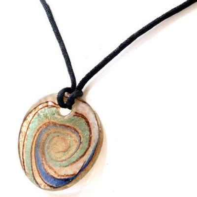 Colgante vidrio espiral multicolor
