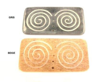 Porta Incienso piedra espiral
