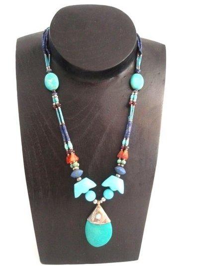 Collar Piedras Naturales  colecc. artesanía hindú (HIND3)