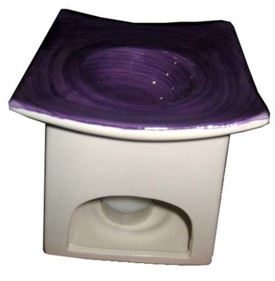 Quemador de aceite cerámica color cuadrado