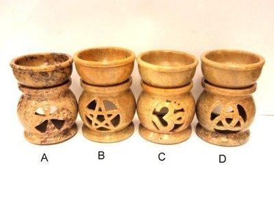 Quemador de aceite piedra simbolo hindú