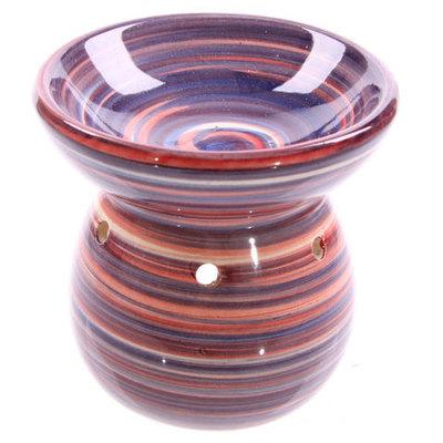 Quemador de aceite cerámica espirales color