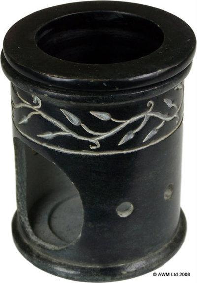 Quemador de aceite mármol negro OB-01