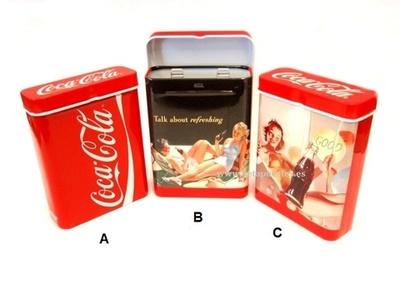 Pitillera metal Champ Coca cola
