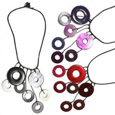 Gargantilla  círculos color combinados