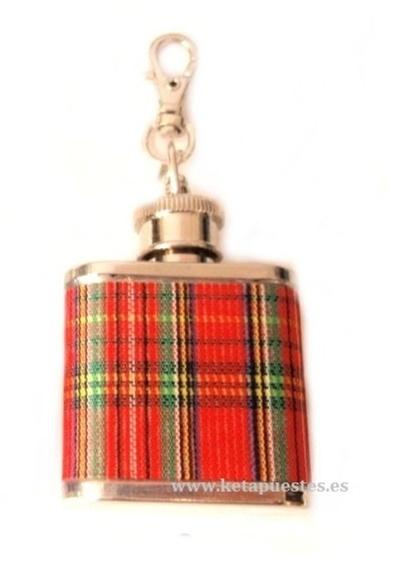 Llavero Petaca mini 1oz cuadros escoceses