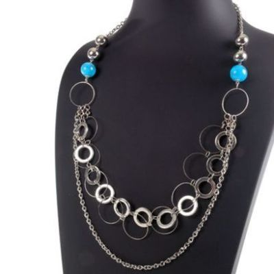 Collar Moon Jewellery Universo azul jew307