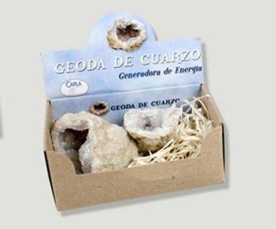 Geoda de cuarzo en caja de regalo