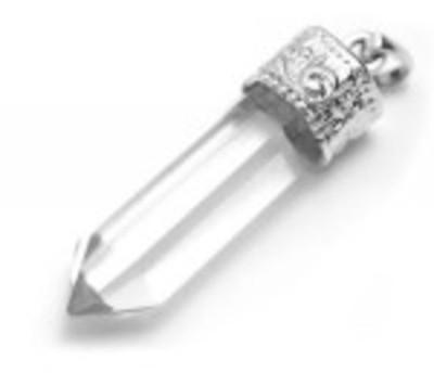 Colgante punta Cuarzo Cristal  Maestro Sanador