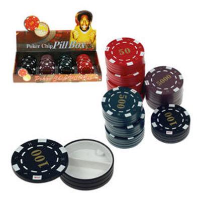 Caja-Pastillero Ficha de Poker