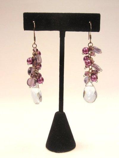 Pendiente Moon Jewellery Lágrimas púrpura