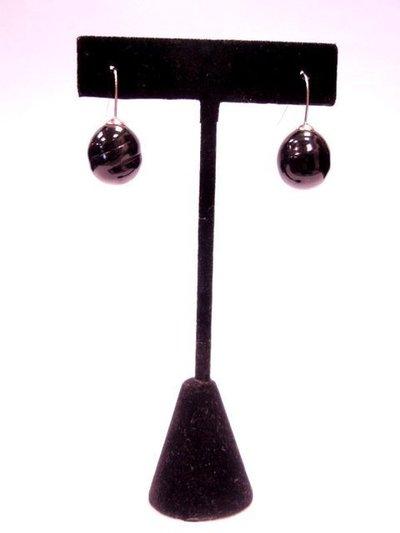 Pendiente perla negra 406362