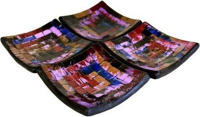 Jabonera mosaico Neblina púrpura 04
