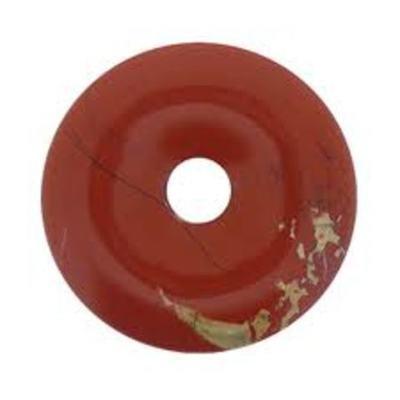 Colgante Donut Jaspe Rojo 40mm