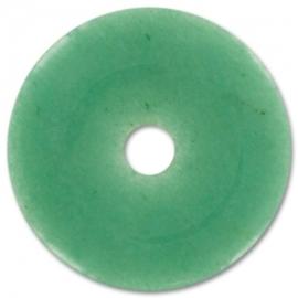 Colgante Donut Aventurina Verde 40mm
