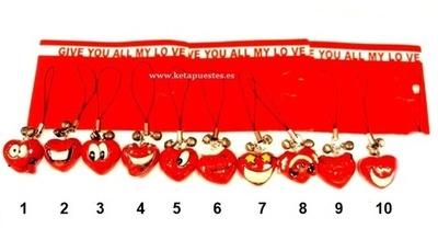 Colgante adorno Love Rojo
