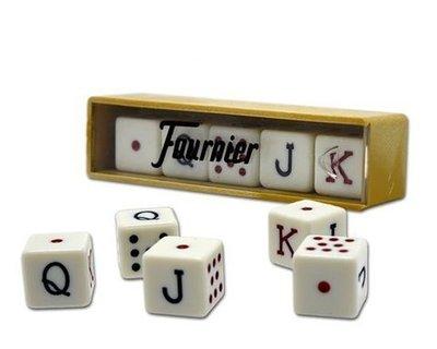 Dados Poker Fournier en caja
