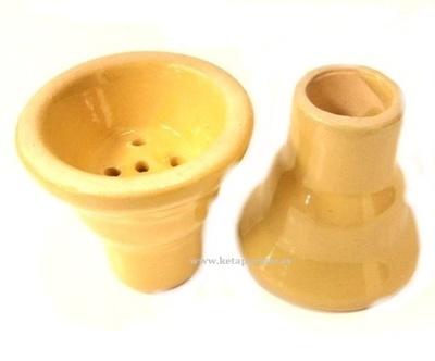 Cazoleta cerámica Rasta amarilla