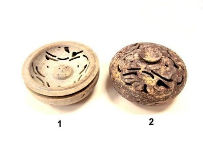 Caja porta incienso piedra tallada