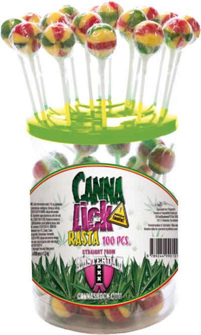 Canna Lick lollypops Rasta