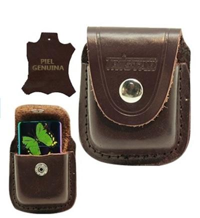 Funda Tristar marrón con clip metálico