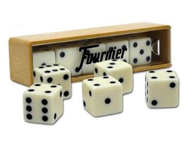 Dados Fournier en caja