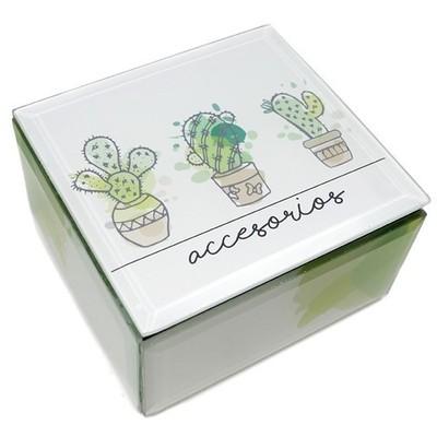 Caja decorativa cristal Cactus