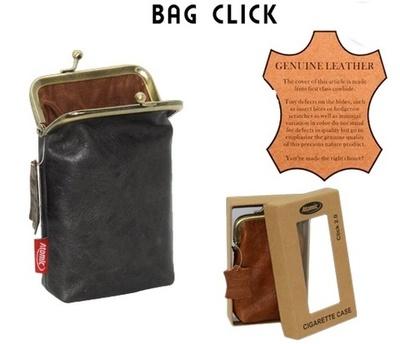 Pitillera Atomic Bag click piel