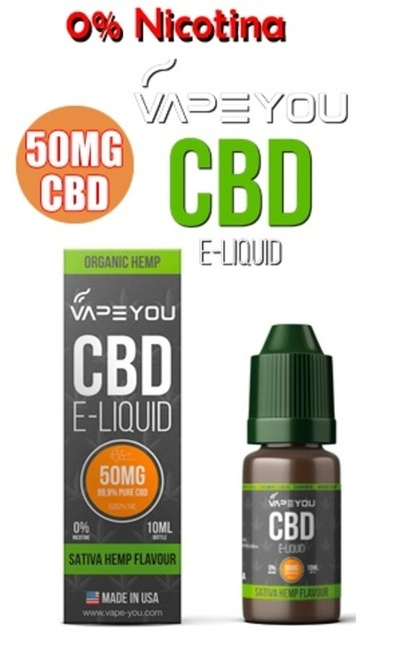 VapeYou 50mg CBD Sativa Hemp