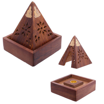 Porta incienso Pirámide con Buda