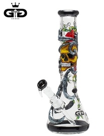 Bong Grace Glass Calavera y rosas