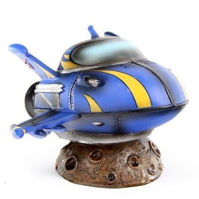 Hucha Retro Cohete azul