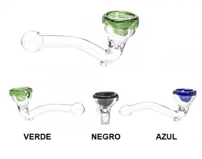 Pipa cristal con color 11cm