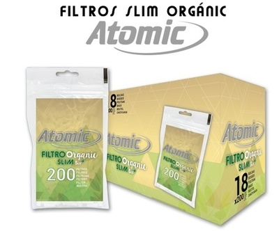 Filtros Atomic Organic Bio Slim 6mm
