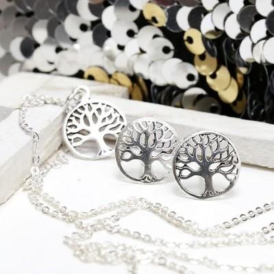 Conjunto plata Árbol de la Vida