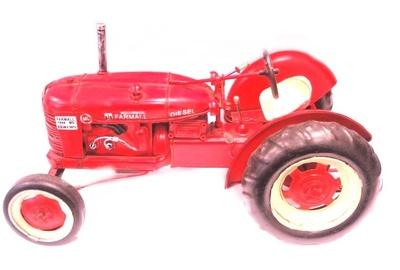 Tractor metal rojo Alex Bog