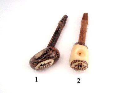 Pipa tallada nuez Tagua