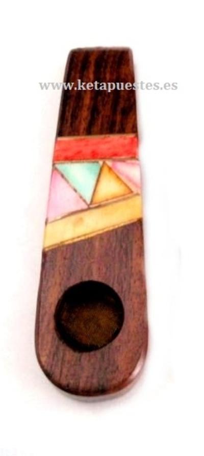Pipa madera decorada con mosaico ID-225
