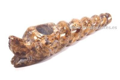 Pipa piedra decorada Caracol