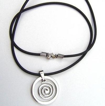 Colgante acero espiral