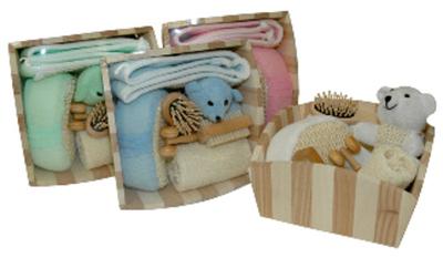 Set Baño madera Osito