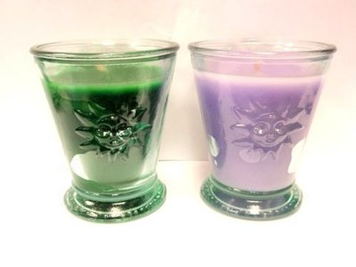 Vela aromática vaso cristal Sol