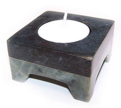 Porta Velas piedra negro/verde