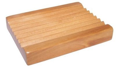 Jabonera madera clásica rectangular