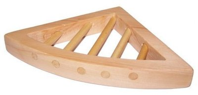 Jabonera madera triangular