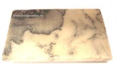 Jabonera piedra mármol blanco/negro